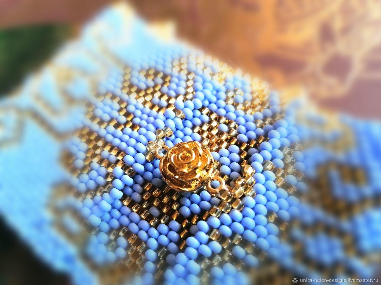 A bracelet made of beads: Blue sky of the East, Bead bracelet, Sevastopol,  Фото №1