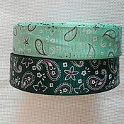 Материалы для творчества handmade. Livemaster - original item REP ribbon with a pattern CUCUMBER width 25 mm. Handmade.