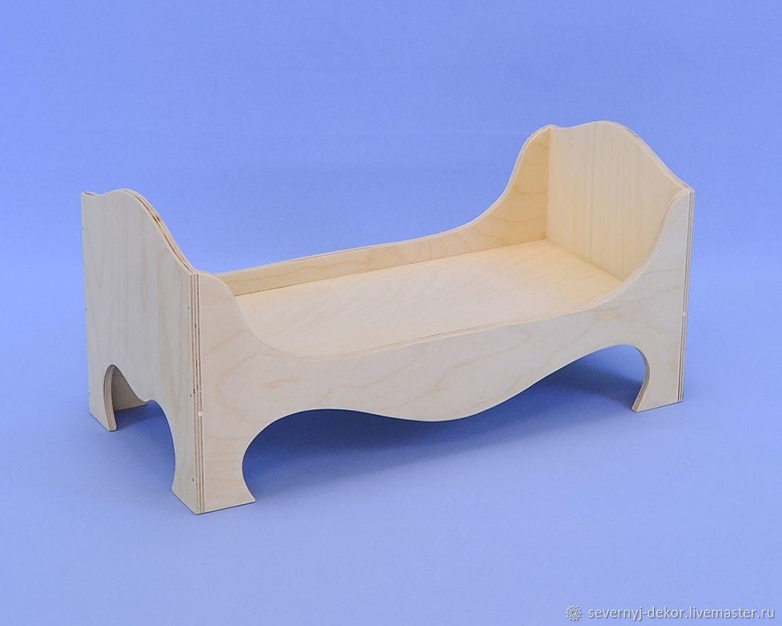 Кровать для куклы, Мебель для кукол, Северодвинск,  Фото №1