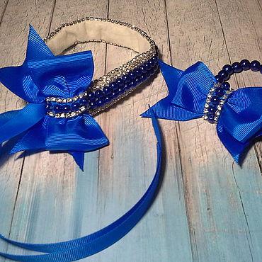 Works for children handmade. Livemaster - original item Set for celebration ribbon in hair and bracelet. Handmade.