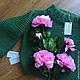 """Кофты и свитера ручной работы. Вязаный свитер ручной вязки """"Оверсайз"""". Otkosova_Knitwear (otkosova). Интернет-магазин Ярмарка Мастеров. зеленый"""