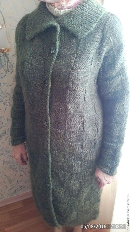 Верхняя одежда ручной работы. Ярмарка Мастеров - ручная работа. Купить Пальто вязанное. Handmade. Комбинированный, пальто женское