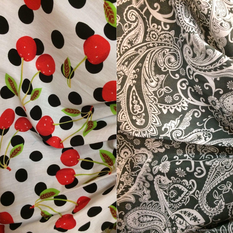 Ткань плательная сорочечная Поплин 100% ХЛОПОК, Ткани, Москва,  Фото №1