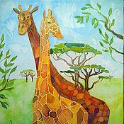 Картины и панно ручной работы. Ярмарка Мастеров - ручная работа Жирафы. Handmade.