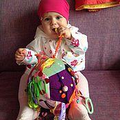 Куклы и игрушки ручной работы. Ярмарка Мастеров - ручная работа Развивающий мяч для малыша. Handmade.