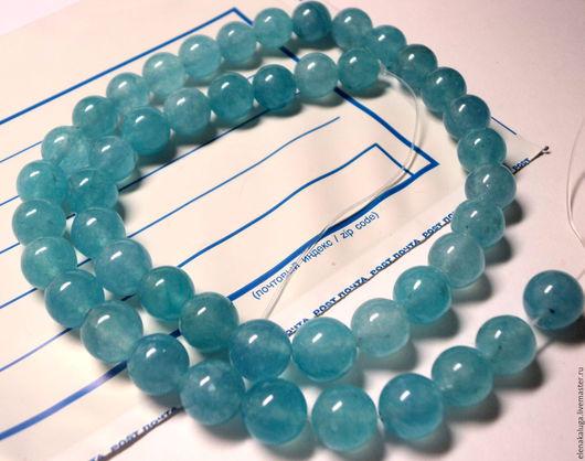 Для украшений ручной работы. Ярмарка Мастеров - ручная работа. Купить Агат голубой 8 мм. Handmade. Голубой, агат