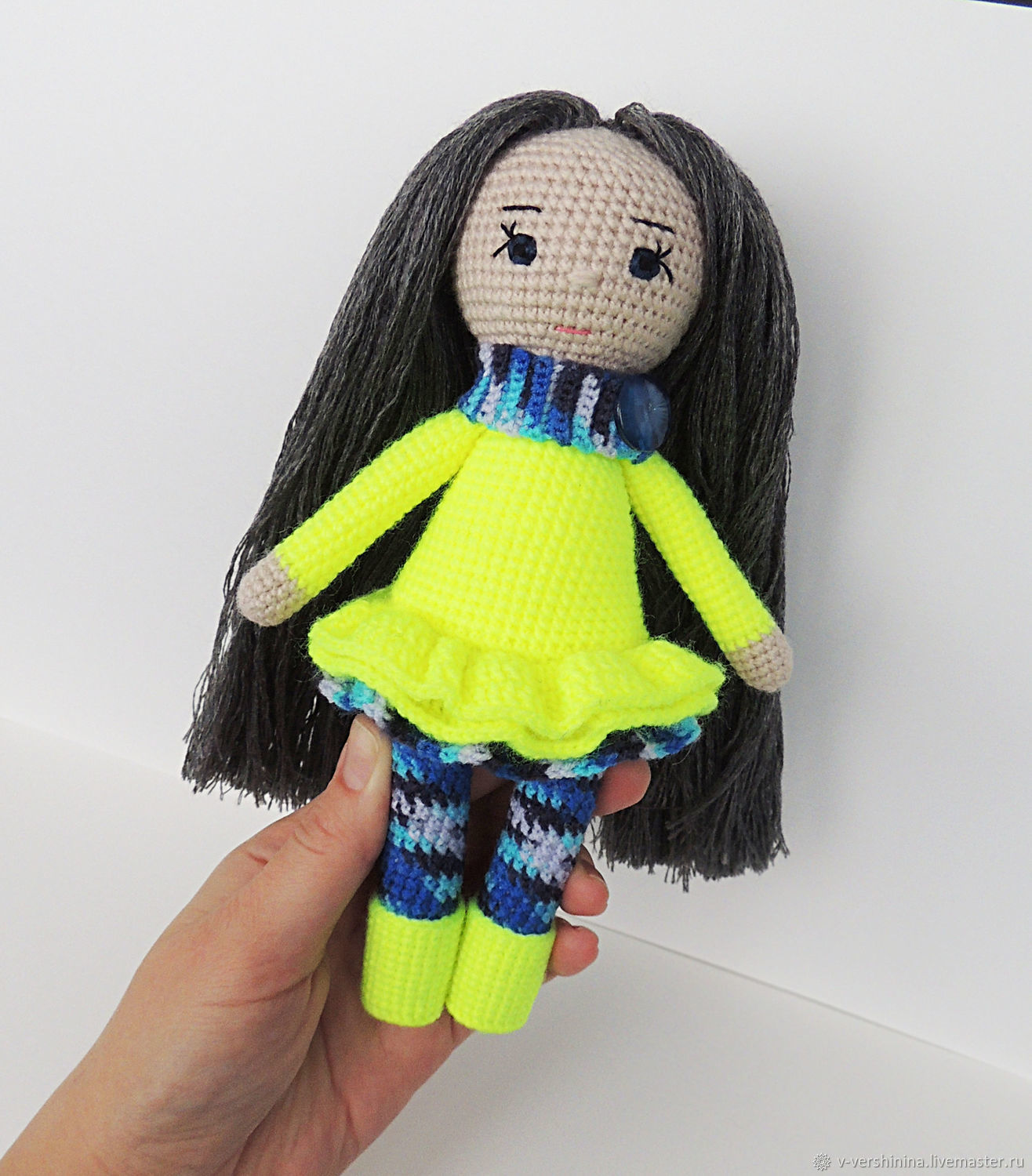 Crocheted play doll, the best doll as a gift for a girl, Stuffed Toys, Permian,  Фото №1