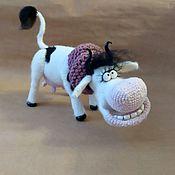 Куклы и игрушки handmade. Livemaster - original item Knitted toy Moray Cow. Handmade.