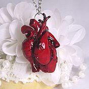Украшения ручной работы. Ярмарка Мастеров - ручная работа Кулон сердце в анатомическом стиле  из полимерной глины 2. Handmade.