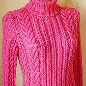 """Одежда ручной работы. Ярмарка Мастеров - ручная работа свитер""""Розовые косы"""". Handmade."""