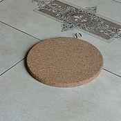 Для дома и интерьера handmade. Livemaster - original item Cork thermal insert with metal suspension PDT-S0000003. Handmade.