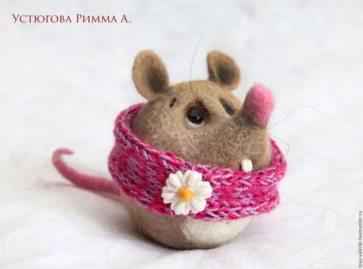 Игрушки животные, ручной работы. Ярмарка Мастеров - ручная работа. Купить Мышь Клава. Handmade. Розовый, мышонок, 8марта