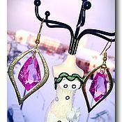 """Украшения ручной работы. Ярмарка Мастеров - ручная работа Серьги """" Шери """" с розовыми топазами. Handmade."""