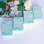 Мыло ручной работы. Ярмарка Мастеров - ручная работа Натуральное мыло с нуля Кружева на гидролате розы голубой подарок. Handmade.
