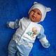 """Для новорожденных, ручной работы. Ярмарка Мастеров - ручная работа. Купить Комплект на выписку """"Лапочка"""". Handmade. Голубой, одежда для детей"""