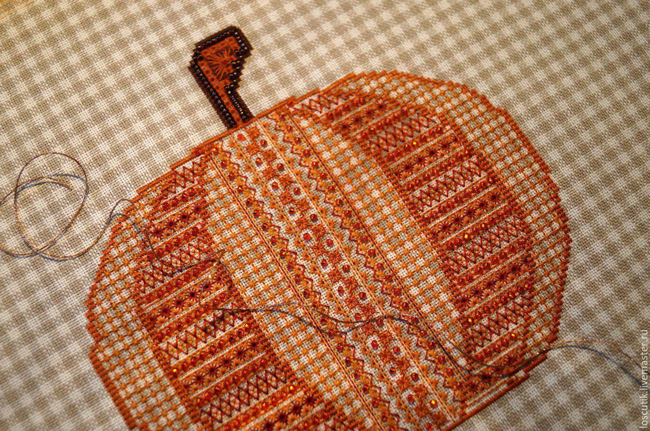 схема тыква вышивка