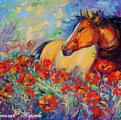 Картины и панно handmade. Livemaster - original item The picture with the horse