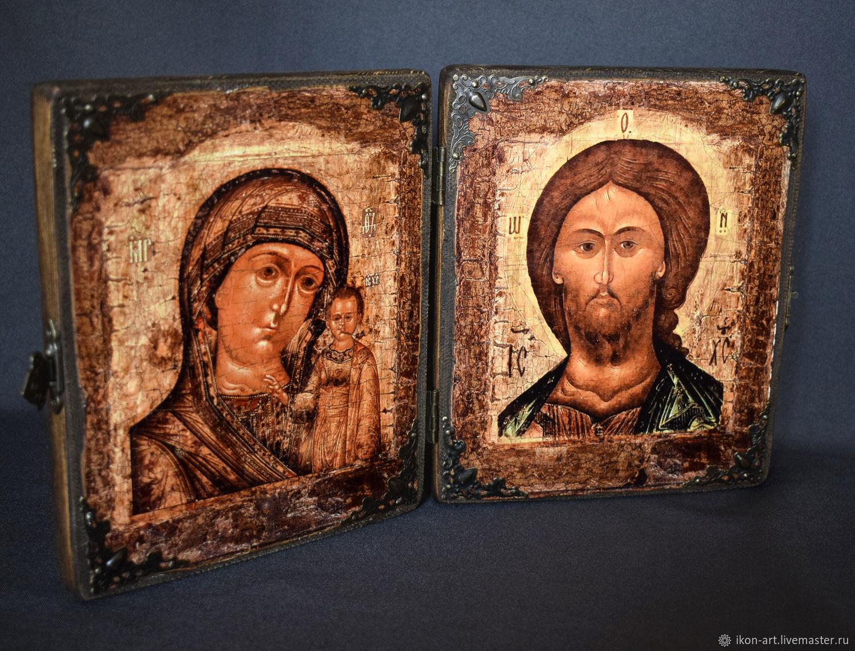 Складень Богоматерь и Спаситель, Иконы, Симферополь,  Фото №1