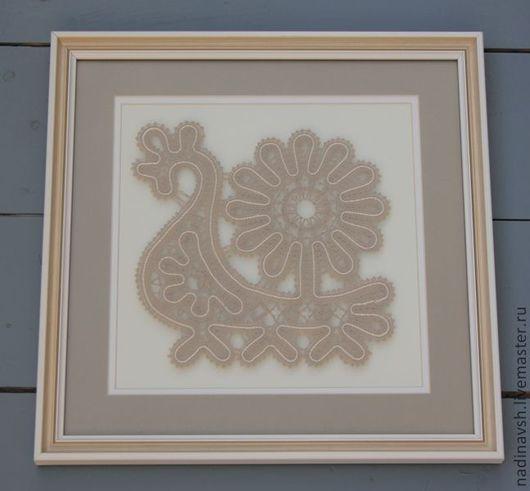 """Картины цветов ручной работы. Ярмарка Мастеров - ручная работа. Купить Панно """"Ладья"""". Handmade. Серый, панно на стену, панно"""