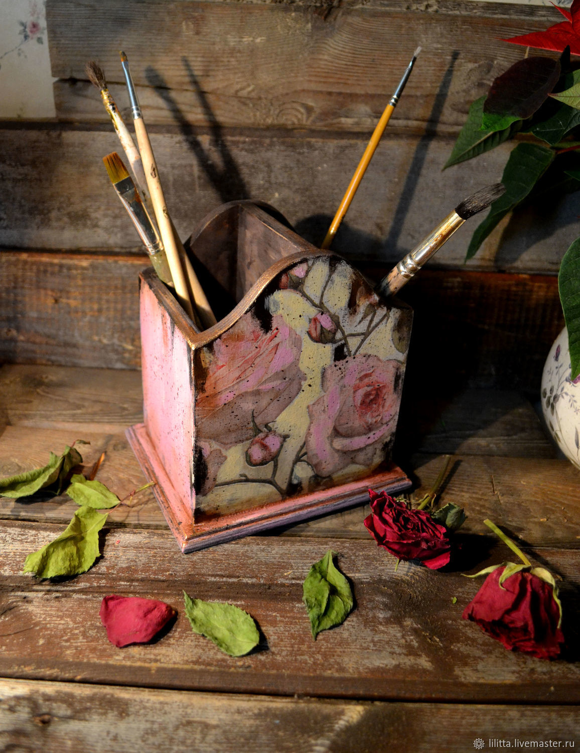 Pencil holder roses, Pencil holders, Moscow,  Фото №1