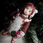 """Куклы и игрушки ручной работы. Ярмарка Мастеров - ручная работа """"Олюшка или Фруктово-ягодное за 7 копеек"""" - ватная елочная игрушка. Handmade."""