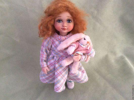 Коллекционные куклы ручной работы. Ярмарка Мастеров - ручная работа. Купить Натуська(миниатюра)(резерв). Handmade. Оранжевый, полимерная глина фимо (fimo)