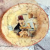 """Посуда ручной работы. Ярмарка Мастеров - ручная работа Тарелка """"Утро в большом городе"""". Handmade."""