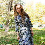 Одежда handmade. Livemaster - original item Shirt dress Maxi