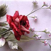 Цветы и флористика ручной работы. Ярмарка Мастеров - ручная работа Интерьерные розы из шёлка.. Handmade.