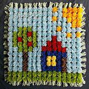 Для дома и интерьера handmade. Livemaster - original item Childrens plaid POM-POM