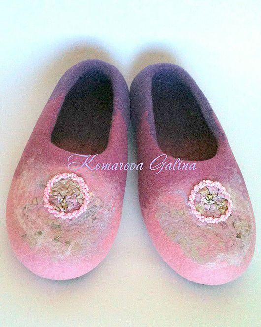 Handmade Shoes handmade. Livemaster - handmade. Buy womens Slippers 'the Locket'.Slippers, purple, rayon fibers