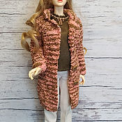 Одежда для кукол ручной работы. Ярмарка Мастеров - ручная работа Вязаное пальто для БЖД 62 см. Handmade.