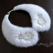 handmade. Livemaster - original item White collar mink fur choker, fur collar for dress. Handmade.