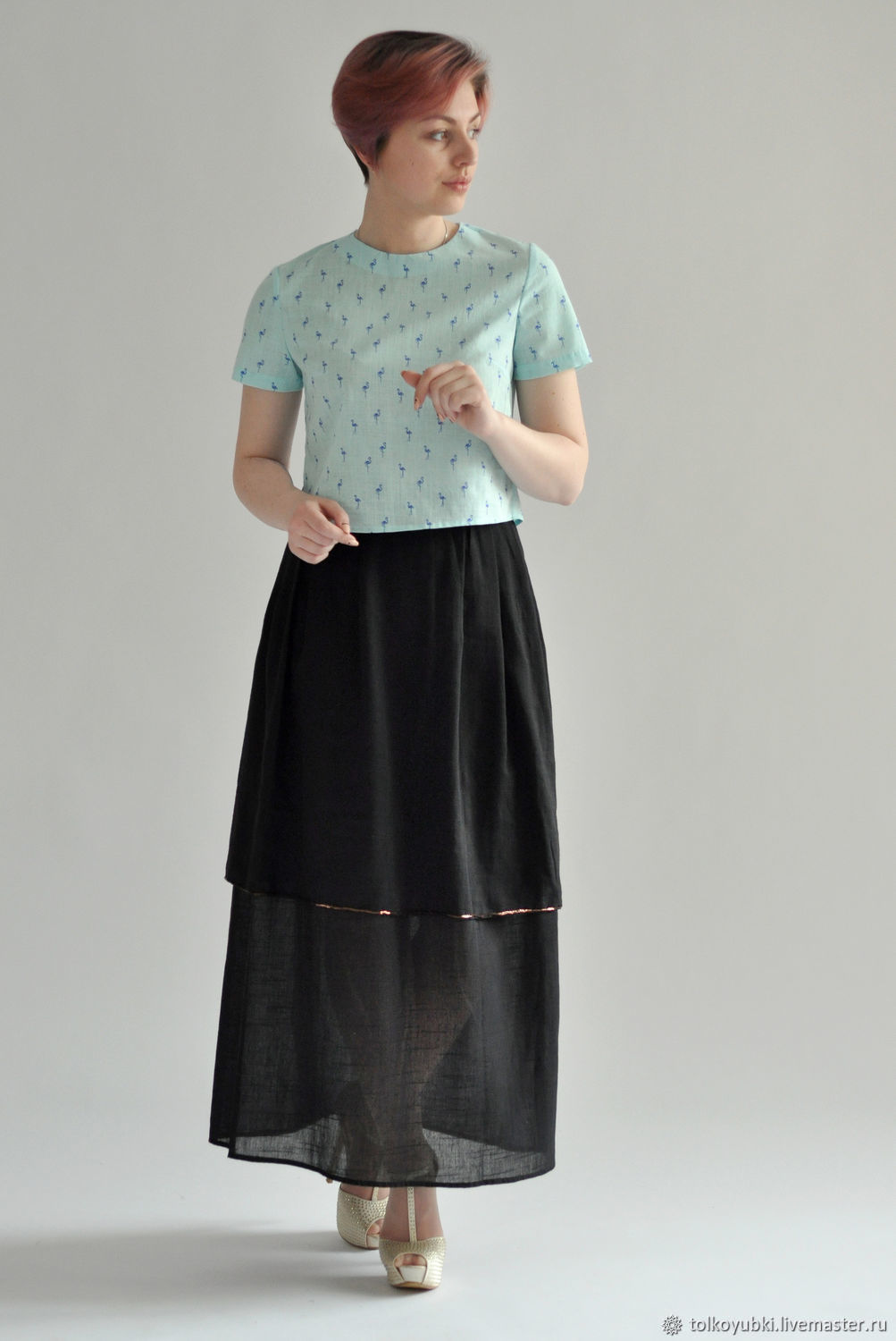 Skirt marlewski black cotton 100, Skirts, Novosibirsk,  Фото №1