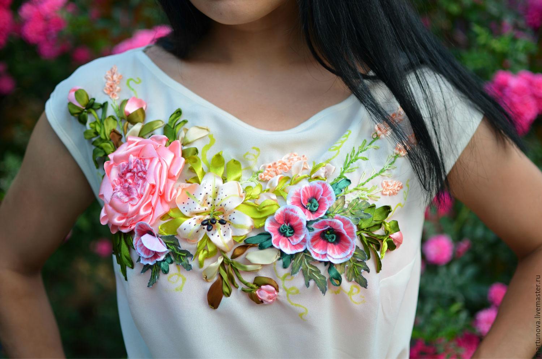 Блузка с вышивкой купить