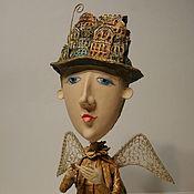 Куклы и игрушки ручной работы. Ярмарка Мастеров - ручная работа Городской Ангел в шляпе. Handmade.