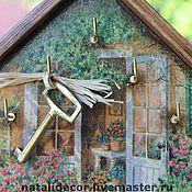 Для дома и интерьера ручной работы. Ярмарка Мастеров - ручная работа Вешалка-домик для ключей. Handmade.