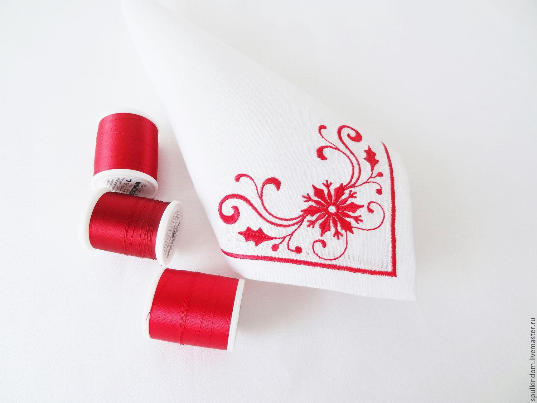 салфетка вышивка схемы новогоднее