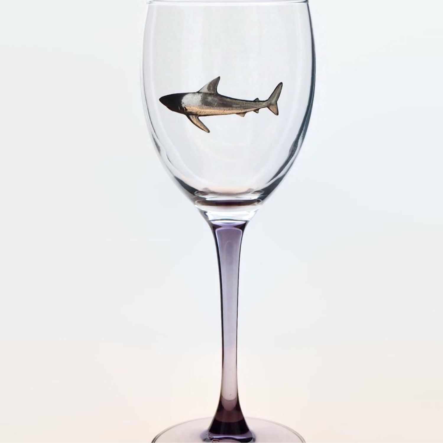 Wine glass BIG SHARK gift to the diver (colored leg), Gifts for February 23, Zhukovsky,  Фото №1