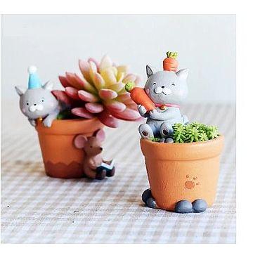 Цветы и флористика ручной работы. Ярмарка Мастеров - ручная работа Кашпо для кактусов. Handmade.