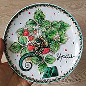 Посуда handmade. Livemaster - original item The plate is decorative.Ural souvenir. Gift. Handmade.