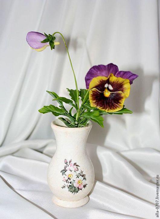 Вазы ручной работы. Ярмарка Мастеров - ручная работа. Купить Вазочки для сухоцветов или флористических композиций. Handmade. Декупаж, белый