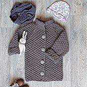 Пальто вязаное. Для девочки.