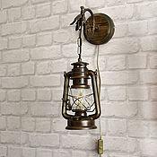 Для дома и интерьера handmade. Livemaster - original item Sconce oil lamp electric wall lamp with switch. Handmade.