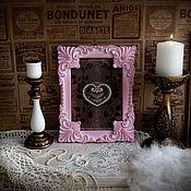 """Сувениры и подарки ручной работы. Ярмарка Мастеров - ручная работа Фоторамка """"Эулалия де Бурбон"""" розовая в стиле рококо. Handmade."""