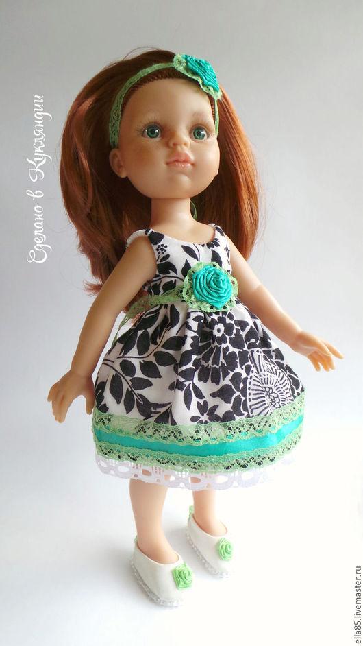 Одежда для кукол ручной работы. Ярмарка Мастеров - ручная работа. Купить Платье  для куклы 32 см. Handmade. Зеленый