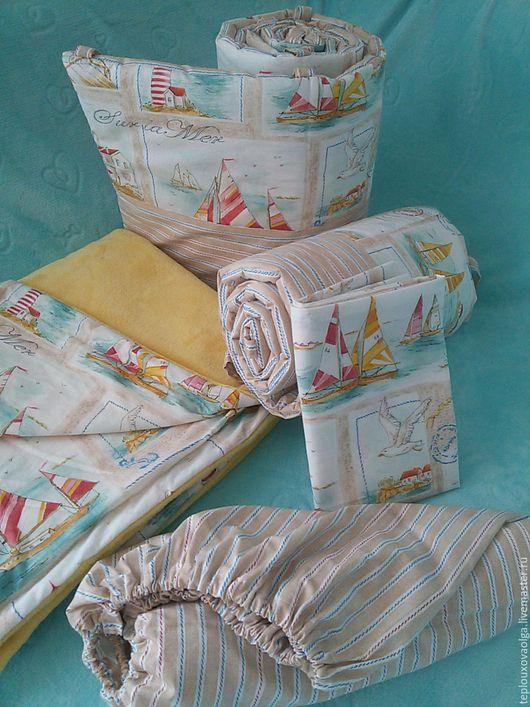 комплект в кроватку. комплект детский. бортики в кроватку. плед детский. одеяло для новорожденного. ручная работа.