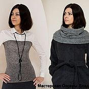 Аксессуары handmade. Livemaster - original item Knitted Snood 3 in 1
