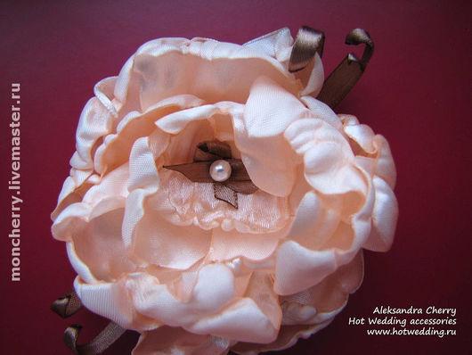 Свадебные украшения ручной работы. Ярмарка Мастеров - ручная работа. Купить Нежный цветок для свадебной прически или платья. Handmade.