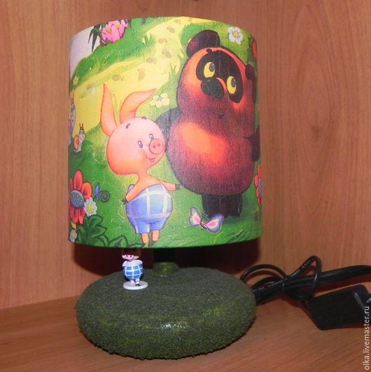 """Освещение ручной работы. Ярмарка Мастеров - ручная работа. Купить Лампа-ночник с героями мультфильма """"Вини-Пух в все-все-все"""". Handmade."""